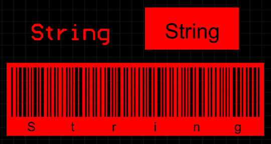 Placed String objects