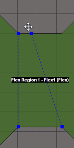 Select and drag a Split Line end node to redefine  a Board Region area.
