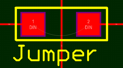 Wire-link style jumpers can be defined by setting matching Jumpervalues in both pads.