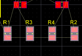 Select, then align and space the resistors.
