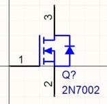 Символы могут быть простыми и маленькими, как этот MOSFET, либо быть большими компонентами со множеством выводов, как ПЛИС, созданная из множества секций.