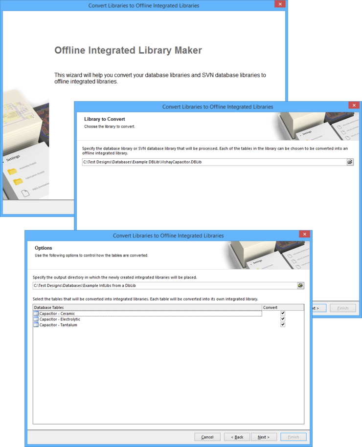 Convert your database libraries (DbLibs or SVNDbLibs) to 'offline' integrated libraries, using the Offline Integrataed Library Maker wizard.