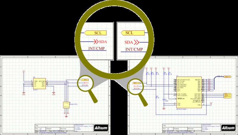 Существует ряд идентификаторов цепей, которые можно использовать для создания связи между листами.