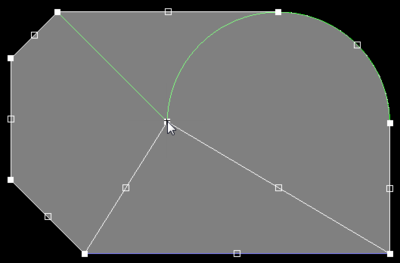 First image - using the guidelines to help align the breaking edge with existing edges. Second image - using the guidelines to align the new vertex location to existing vertices.