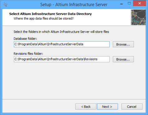 Determine install locations for Infrastructure Server data.