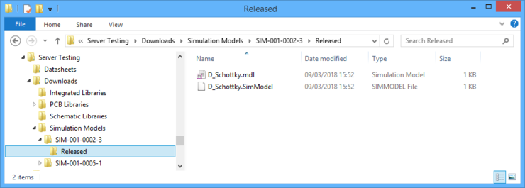 Accessing the data for a Simulation Model Item included in a batch download.
