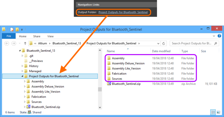 Quickly browse to the output folder of locally released data, directly from the Execution Report stage of the interface. Hover over the image to see an example of browsing to  the packaged zip file of locally released data.