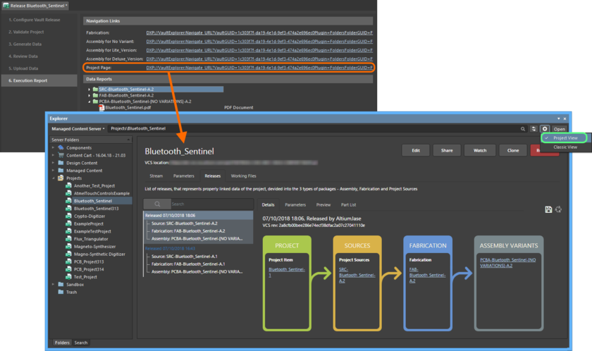 For a managed project, you can explore the project in the Explorer panel in more detail, courtesy of the Project View.