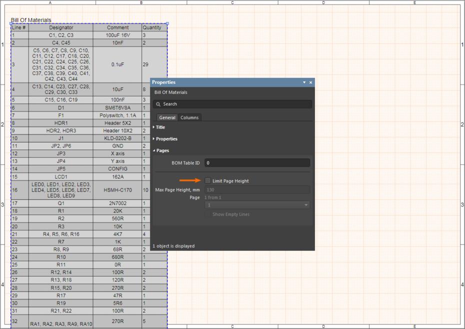 Наведите курсор на изображение, чтобы увидеть результат использования Limit Page Height.