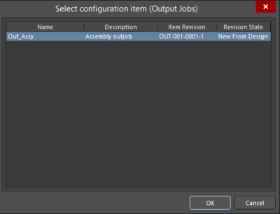 Two variations of the Select configuration item dialog
