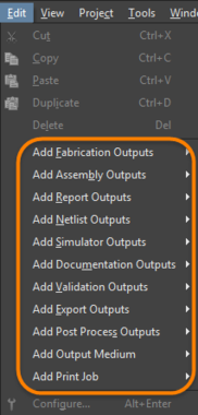 Add each output that is required by selecting the appropriate Data Source.