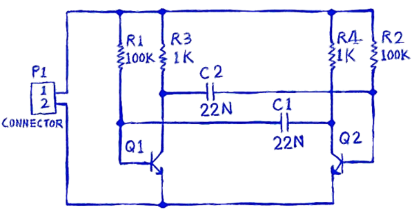 Circuit for the multivibrator