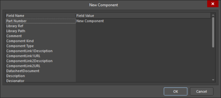 Two variations of the Edit Database Component dialog