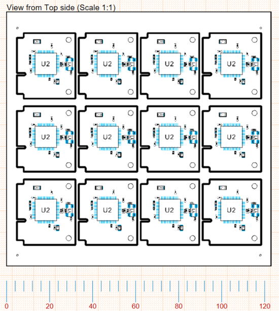 A variety of X, Y Axis Scale applied to a Board Assembly View.