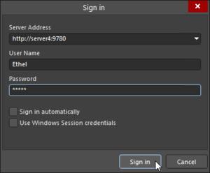 Вход на сервер server4 (хост-ПК Concord Pro) из Altium Designer.