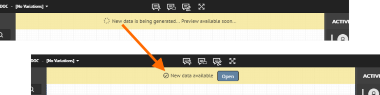 If you make changes to the design, then the Web Review interface will automatically detect and make the new data available to you open, once those changes have been committed back to the design repository in Concord Pro.