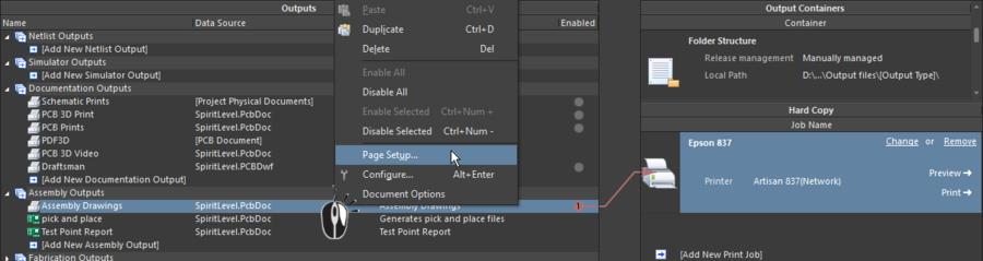 Красная линия указывает на несоответствие в настройках страницы выходного документа и настройками страницы в выбранном контейнере.