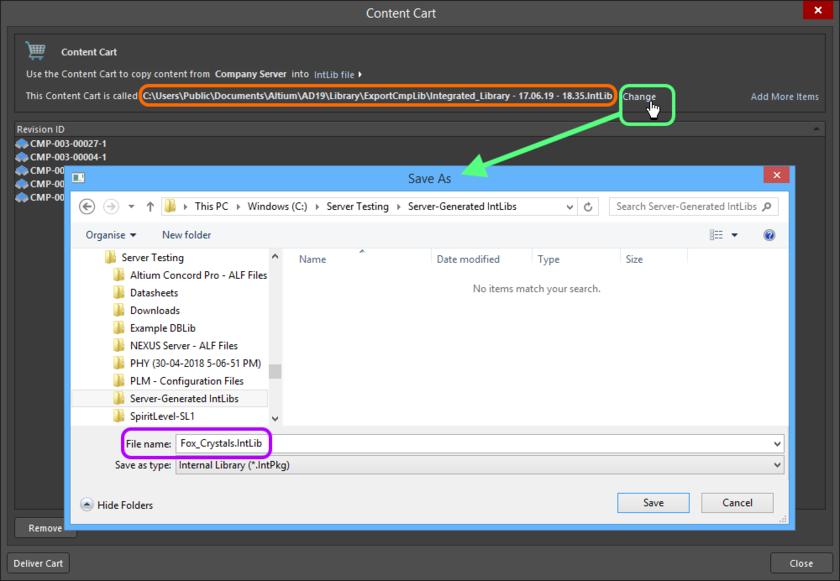 Примените имя файла и целевую папку по умолчанию либо измените их необходимым образом.