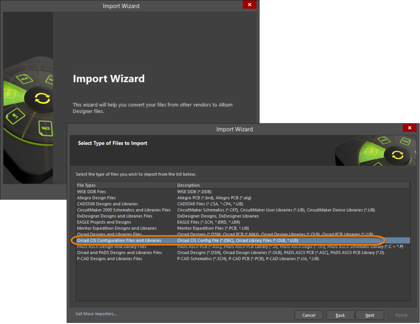 Import Wizard Select Files