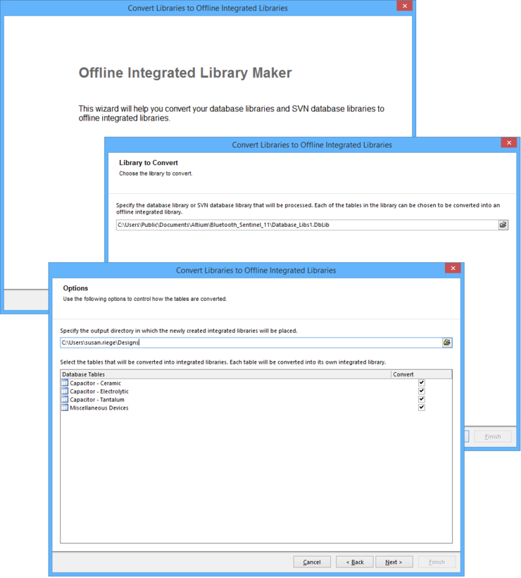 Offline Integrated Library Maker