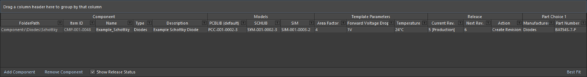 Define your components in a logical and intuitive way using the Component Editor.