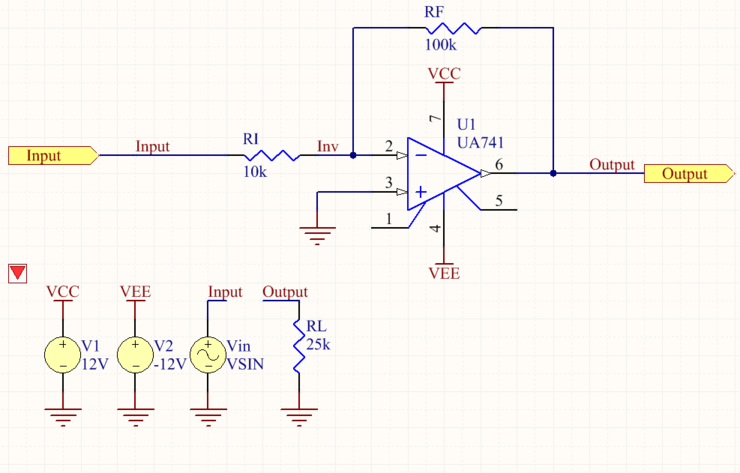 Initially, the Compile Mask directive is disabled, making the circuit ready for simulation. Roll over the image to show the Compile Mask directive enabled,  thereby hiding the simulation sources from the design.