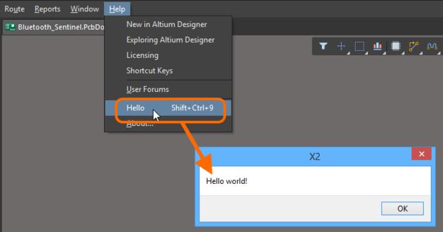 Команда меню, созданная из управляемого скрипта, работает, когда пользователь подключен к серверу.
