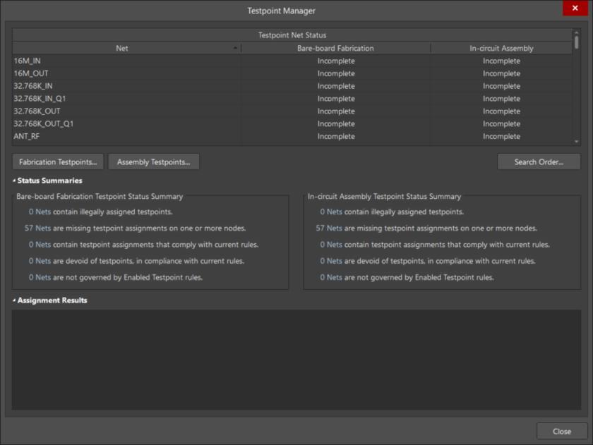 Быстрое и грамотное управление контрольными точками для испытаний печатной платы и печатного узла осуществляется с помощью Testpoint Manager.
