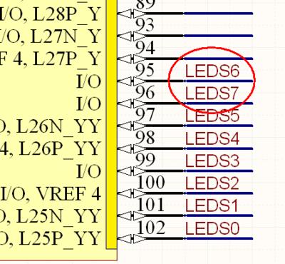 На изображении слева показана перестановка эквивалентных выводов, выполненная на схеме путем перестановки выводов. На изображении справа показана перестановка эквивалентных выводов, выполненная перемещением меток цепей.