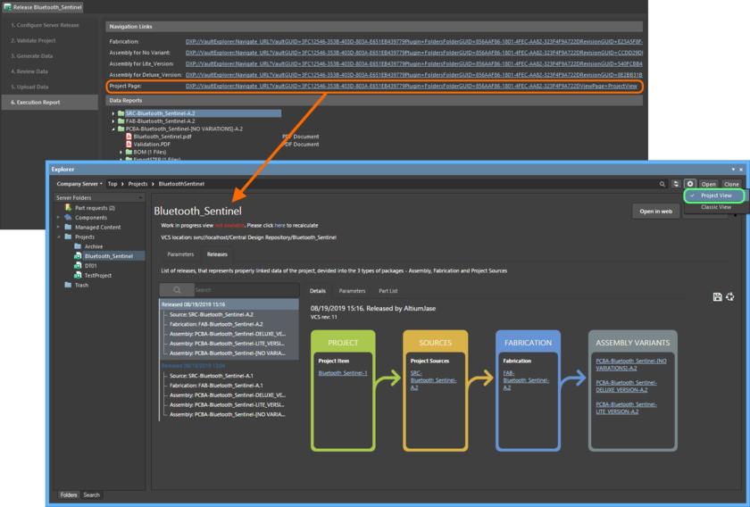 Вы можете получить подробную информацию об управляемом проекте в режиме Project View панели Explorer.