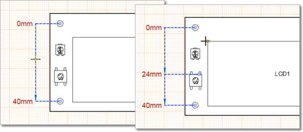Select and drag the dimension set to a new position, or add/remove individual dimensions.