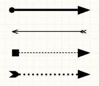 Some examples of Arrow and Marker  designs that can be achieved.