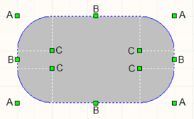 A selected Round Rectangle