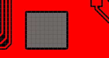 A Board Cutout shown on the left, with a Route Tool path defined in the image on the right.