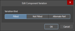 The Edit Component Variation dialog with Fitted selected