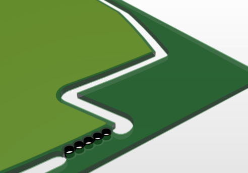 Объекты на слое Route Tool Path используются для визуализации фрезерованной платы в 3D-режиме.