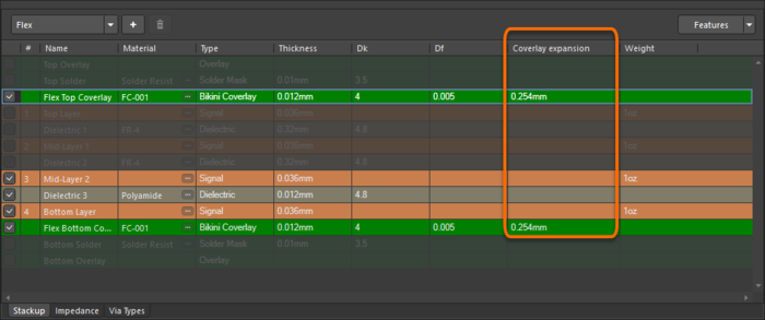 Add the bikini coverlay layers into the required stack and configure the layer properties in the Layer Stack Manager or Properties panel.
