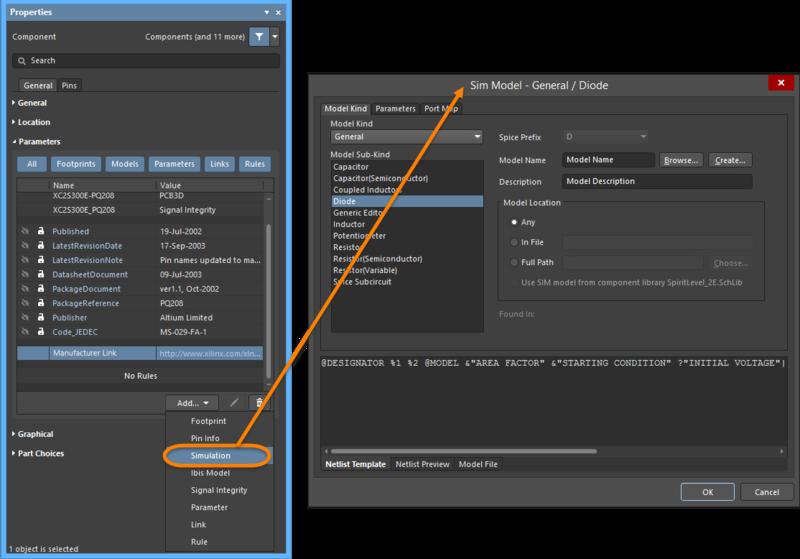 Модели добавляются в панели Properties. Модель каждого типа открывается в собственном редакторе.