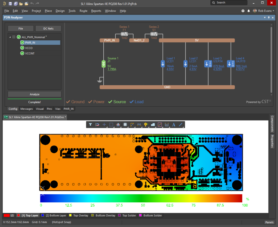 In Compact Layout mode the Configuration pane changes to tab access, which preserves screen space for the PCB Editor.