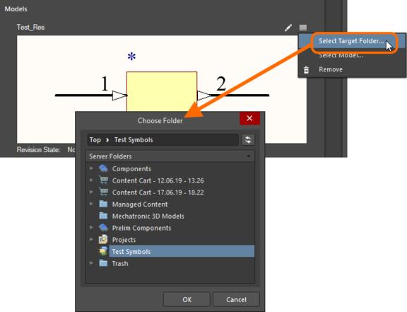 Переопределите целевую папку по умолчанию для типа модели, выбрав другую папку.