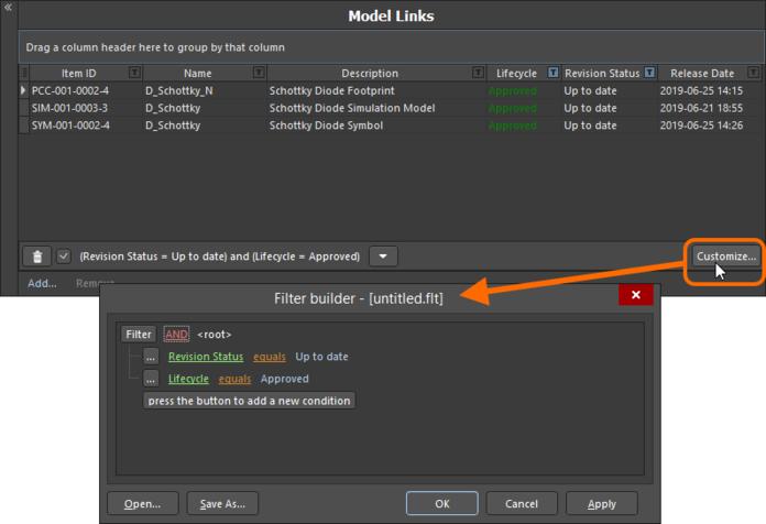 Используйте диалоговое окно Filter Builder для создания более сложного фильтра.