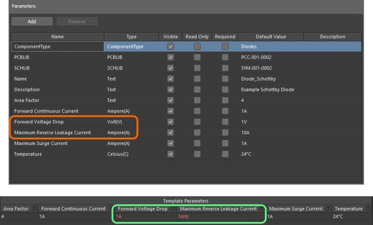 Валидация данных – в редакторе Component Editor есть функции, которые предупредят вас в случае несоответствия между значением, введенным для параметра с единицами измерения, и его типом данных.