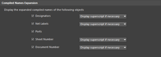 Repeated objects that have been renamed can display the source name as a superscript, configure this in the preferences