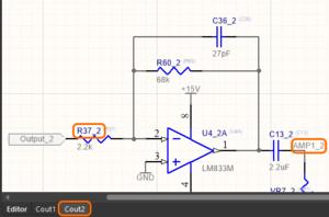 Третье изображение, показывающее эти позиционное обозначение и метку цепи во втором физическом канале
