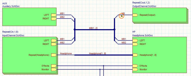 Изображение, где показан пример использования маркера Specific No ERC для подавления предупреждения о множестве имен цепей