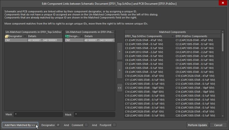Edit Component Links