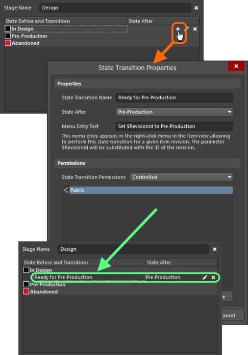 Adding a state transition.