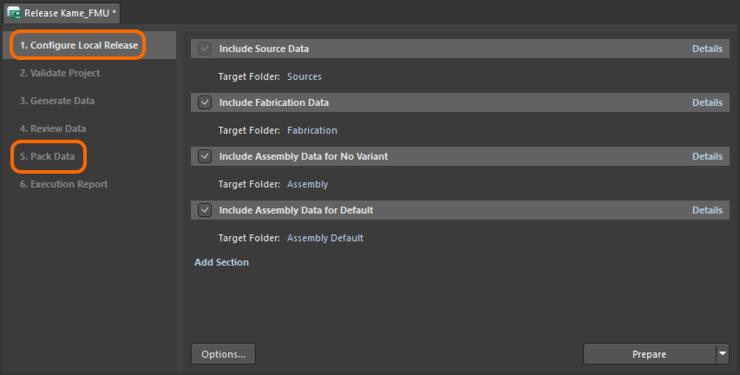 Средство выпуска Project Releaser в локальном, неуправляемом (офлайн) режиме.