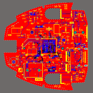 PCB editor 2D Layout view mode