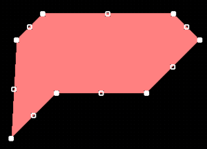 An example of a selected solid region
